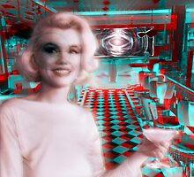 Marilyn in Wonderland by Kep Van Der Moosh