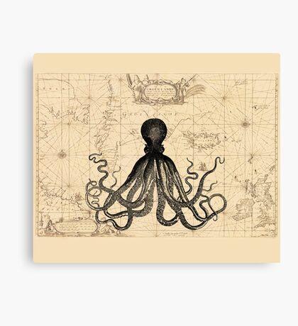 The Kraken Is All Canvas Print