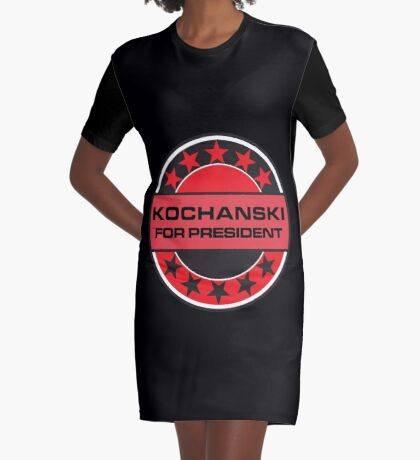 KOCHANSKI FOR PRESIDENT [RED DWARF] Graphic T-Shirt Dress