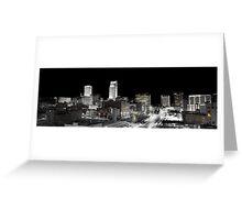 Omaha Night Lights Greeting Card