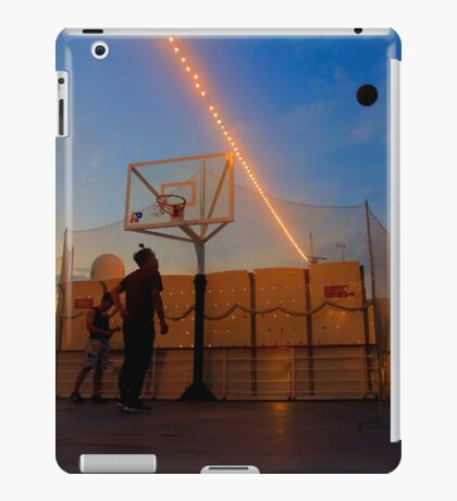 Playing Basketball in the Sunset iPad Case/Skin