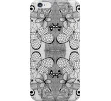 Scattered Graphite Fluttering Butterflies iPhone Case/Skin