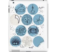 Cute Sea Animals Floating in Bubbles iPad Case/Skin