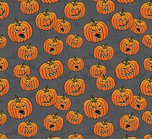 Halloween spooky Pumpkin pattern by Tatiakost