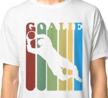 Retro 1970's Style Soccer Goalie Silhouette T Shirt Goalie Soccer Sport  Classic T-Shirt