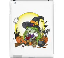 Halloween Witch girl reading book iPad Case/Skin