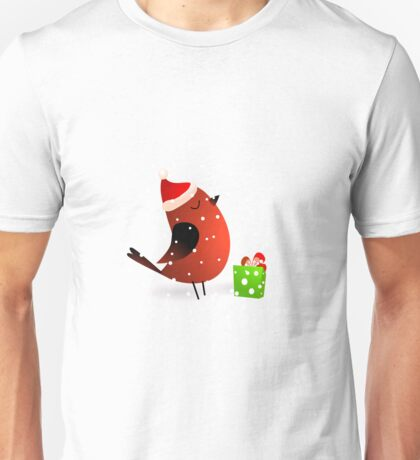 Christmas cute birds Unisex T-Shirt