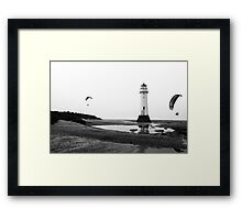 Fun with the lighthouse Framed Print