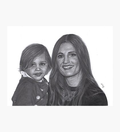 Stana Katic and her niece Sophia Photographic Print