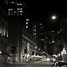 black and white cityscape by Savannah Regier