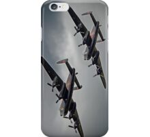 The 2 Lancasters - Tail Chase - Dunsfold 2014 iPhone Case/Skin