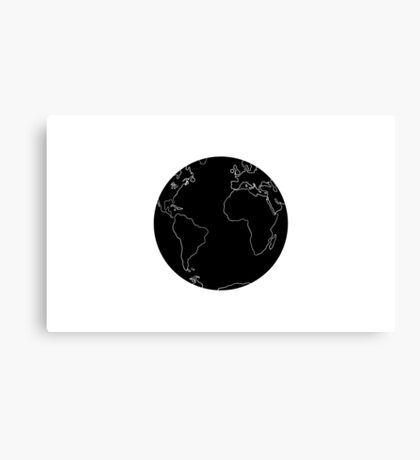 Black and white Earth Canvas Print