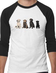 Rainbow of Puppy Love Men's Baseball ¾ T-Shirt