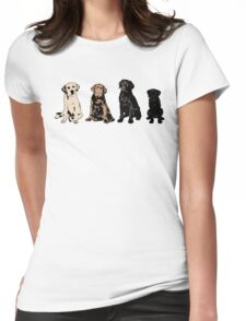 Rainbow of Puppy Love Womens Fitted T-Shirt