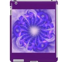 Mystical abstract background with bright pattern, stylized flower shining iPad Case/Skin