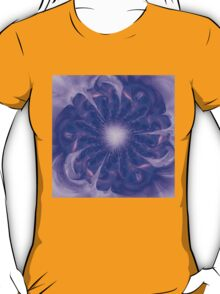Mystical abstract background with bright pattern, stylized flower shining T-Shirt