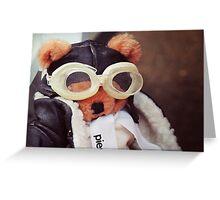 Teddy Pierre The Aviator Greeting Card