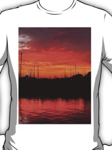 Sunset Over Clear Lake T-Shirt