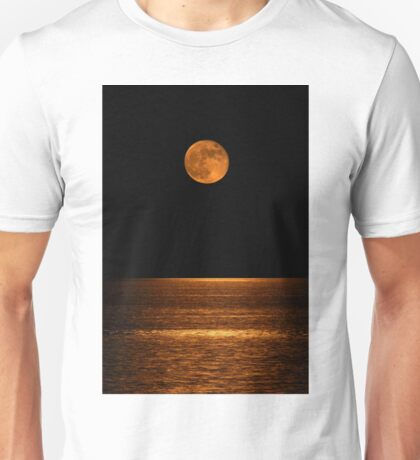 Harvest Moon Over Clear Lake Unisex T-Shirt
