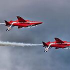 The Red Arrows Mirror Pass - Dunsfold 2014 by Colin J Williams Photography