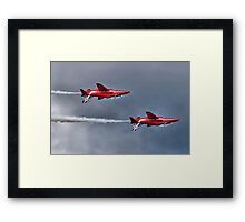 The Red Arrows Mirror Pass - Dunsfold 2014 Framed Print