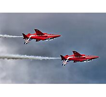 The Red Arrows Mirror Pass - Dunsfold 2014 Photographic Print