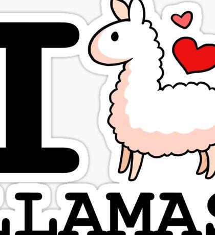I Llama Llamas Sticker