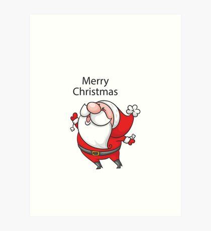 Christmas Oldman Art Print