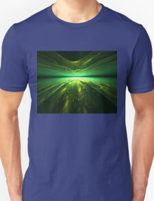 Fantastic abstract background with   multi-layered   pattern with shades of green T-Shirt