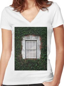 The Ivy Window Women's Fitted V-Neck T-Shirt
