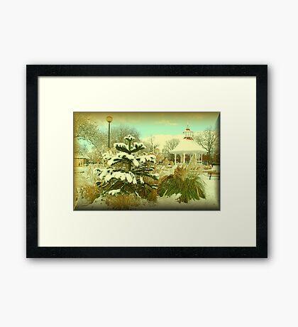 Chapelfield Gardens, Norwich, in Winter. Framed Print