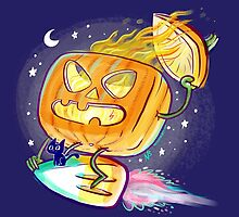 Great Pumpkin Rider by Nate Bear