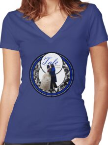 Tale as Old as Time. Women's Fitted V-Neck T-Shirt
