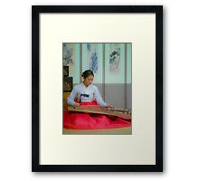 Gayageum Girl Framed Print