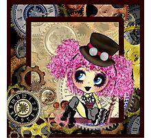 Cute Steampunk Girl cartoon art Photographic Print