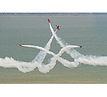The Red Arrows - Opposition Barrel Roll - Eastbourne 2014 Photographic Print