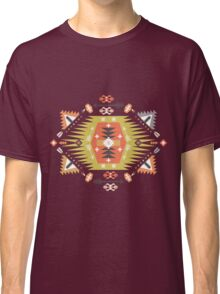 Ornamental round geometric native style pattern Classic T-Shirt