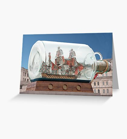 Ship In A Bottle Greeting Card