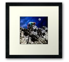 Moon rise over Willard's Mountain Framed Print