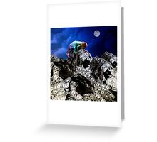 Moon rise over Willard's Mountain Greeting Card