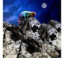 Moon rise over Willard's Mountain Photographic Print