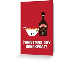 Christmas Character Building - Christmas Day Breakfast 2 Greeting Card