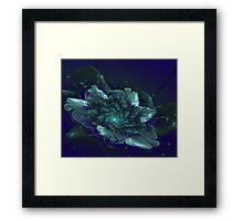 Fantasy shining flower on a dark background Framed Print