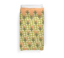 Funky Tropical Pineapple Collage  Duvet Cover