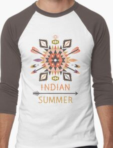 Vector colorful decorative element on native ethnic style Men's Baseball ¾ T-Shirt