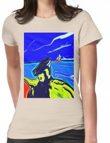 Left Behind In colour  Womens Fitted T-Shirt