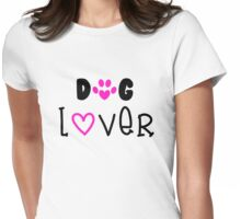 Dog Lover, Dogs Womens Fitted T-Shirt