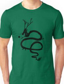 Ink Black Dragon [Transparent, Blank] Unisex T-Shirt