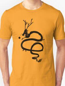 Ink Black Dragon [Transparent, Blank] T-Shirt