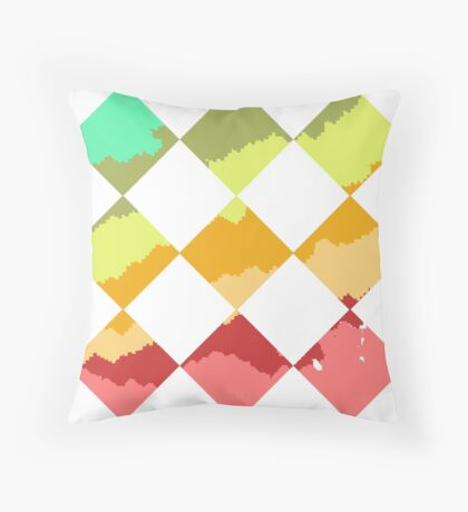 Pixel Tie Dye Print Throw Pillow